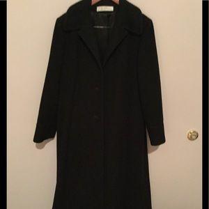 Women's black wool coat